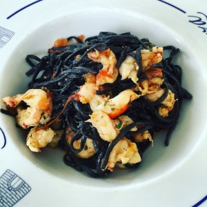 Squid ink linguini.