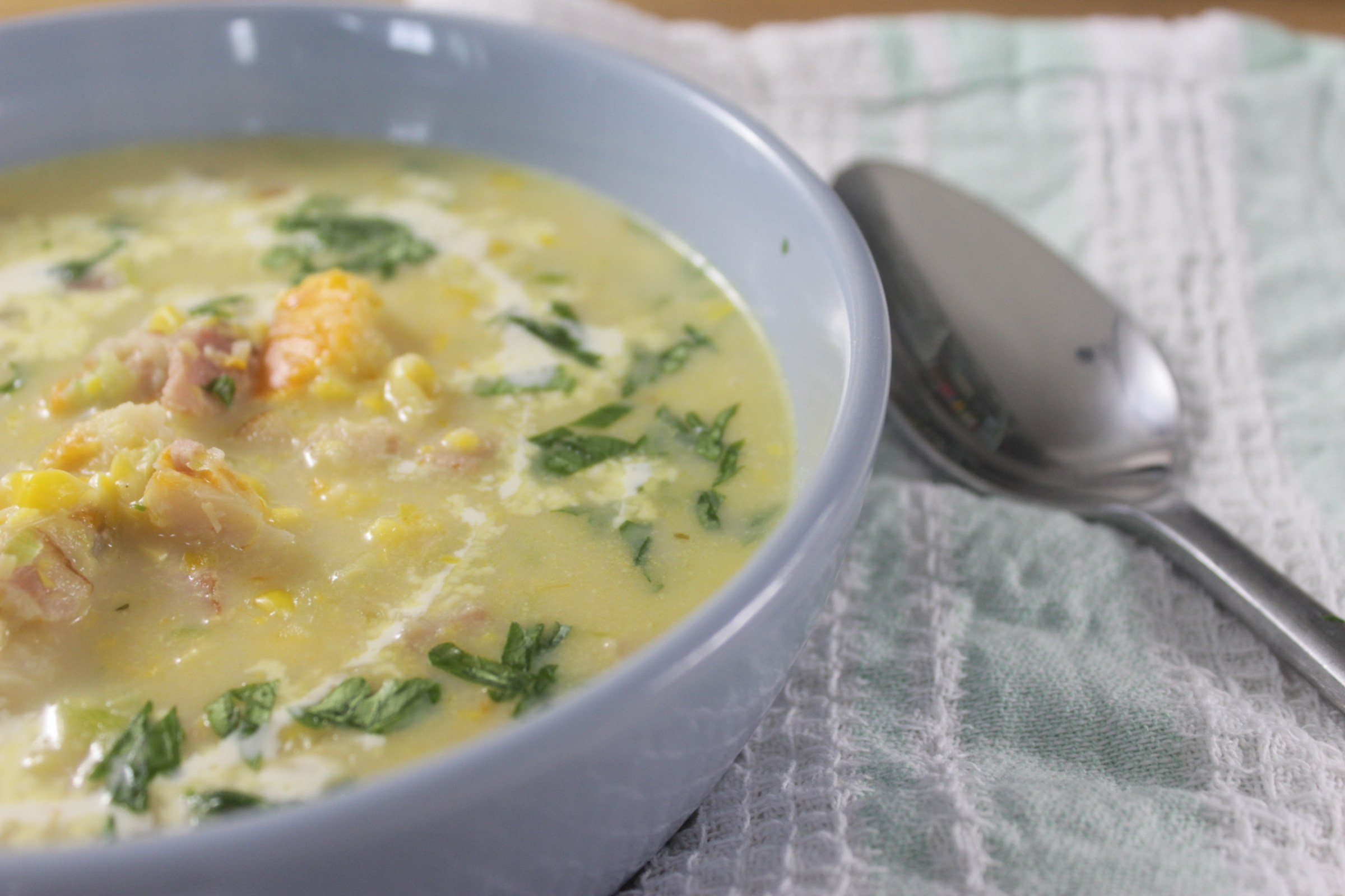 Smoked haddock and bacon chowder