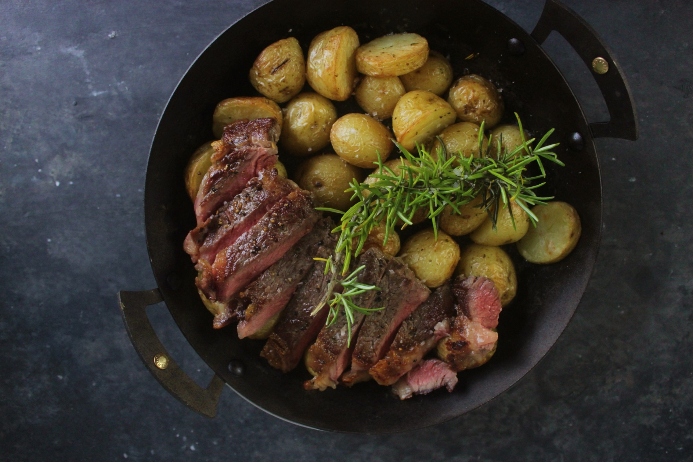 Steak with Rosemary Potatoes