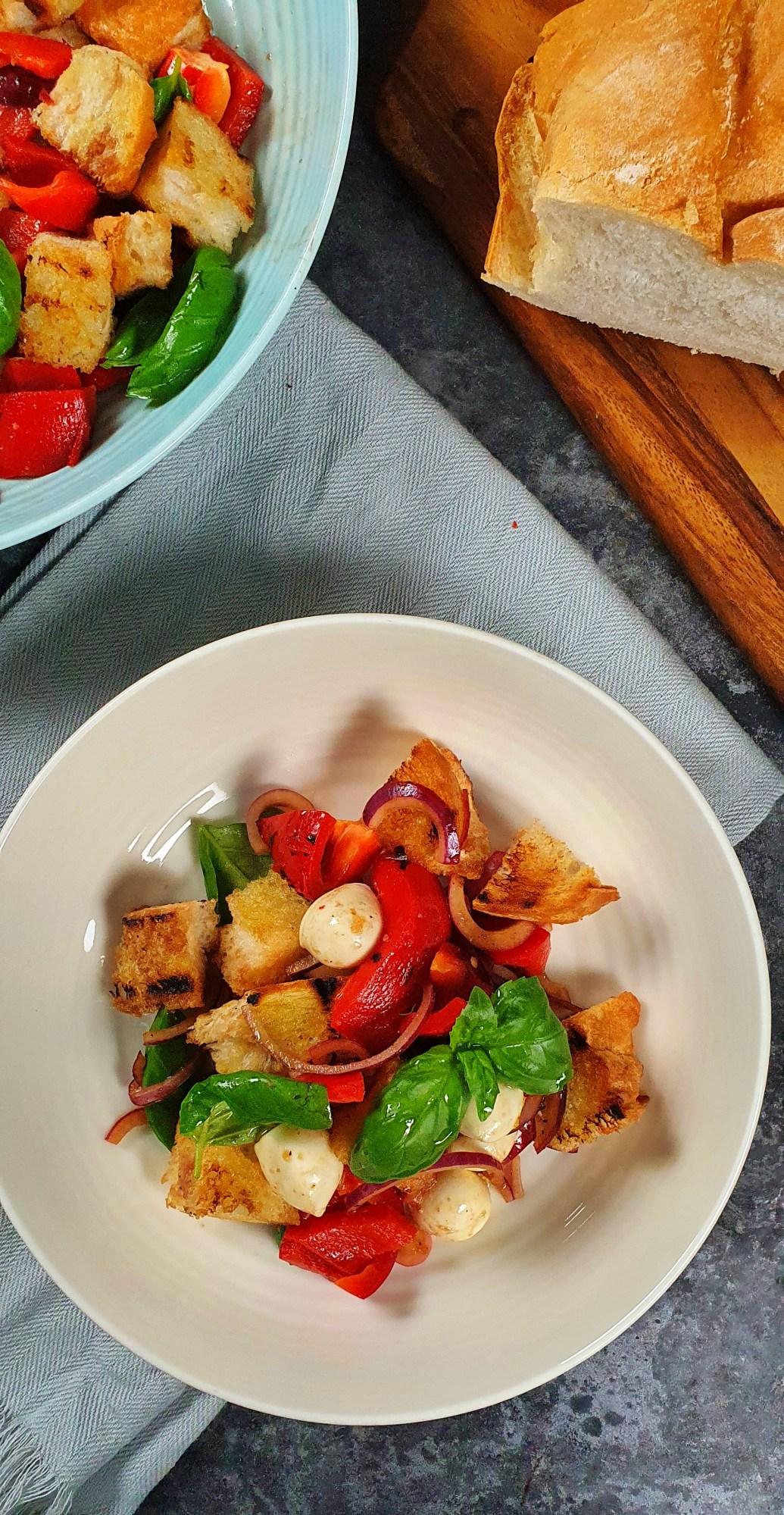 Roast Pepper Panzanella