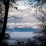 hiver, ciel soir, couché de soleil, paysage, Alpes, Grésivaudan, foret, nature, paysage