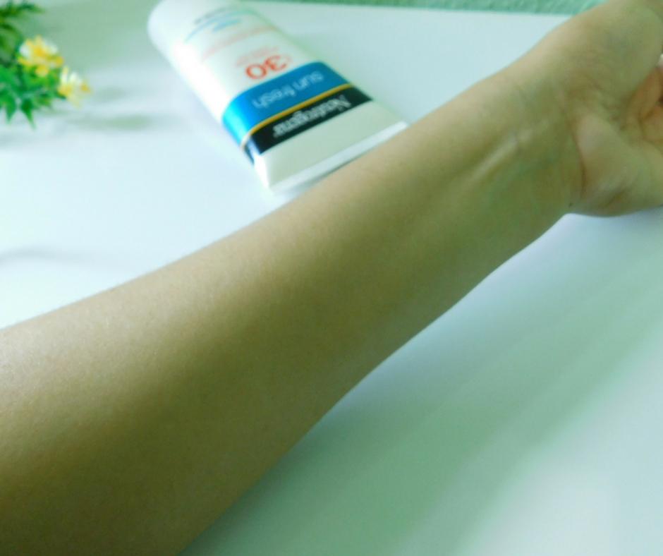 Neutrogena Sunfresh após a aplicação