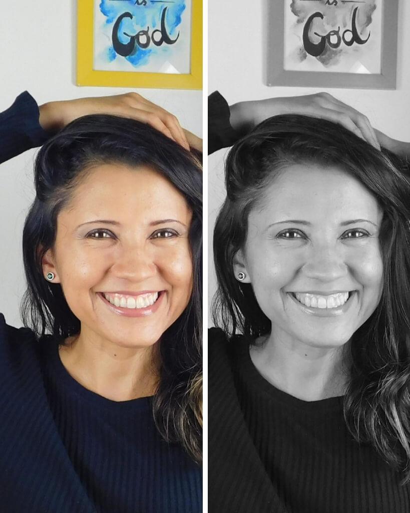 Como usar cores - médio contraste