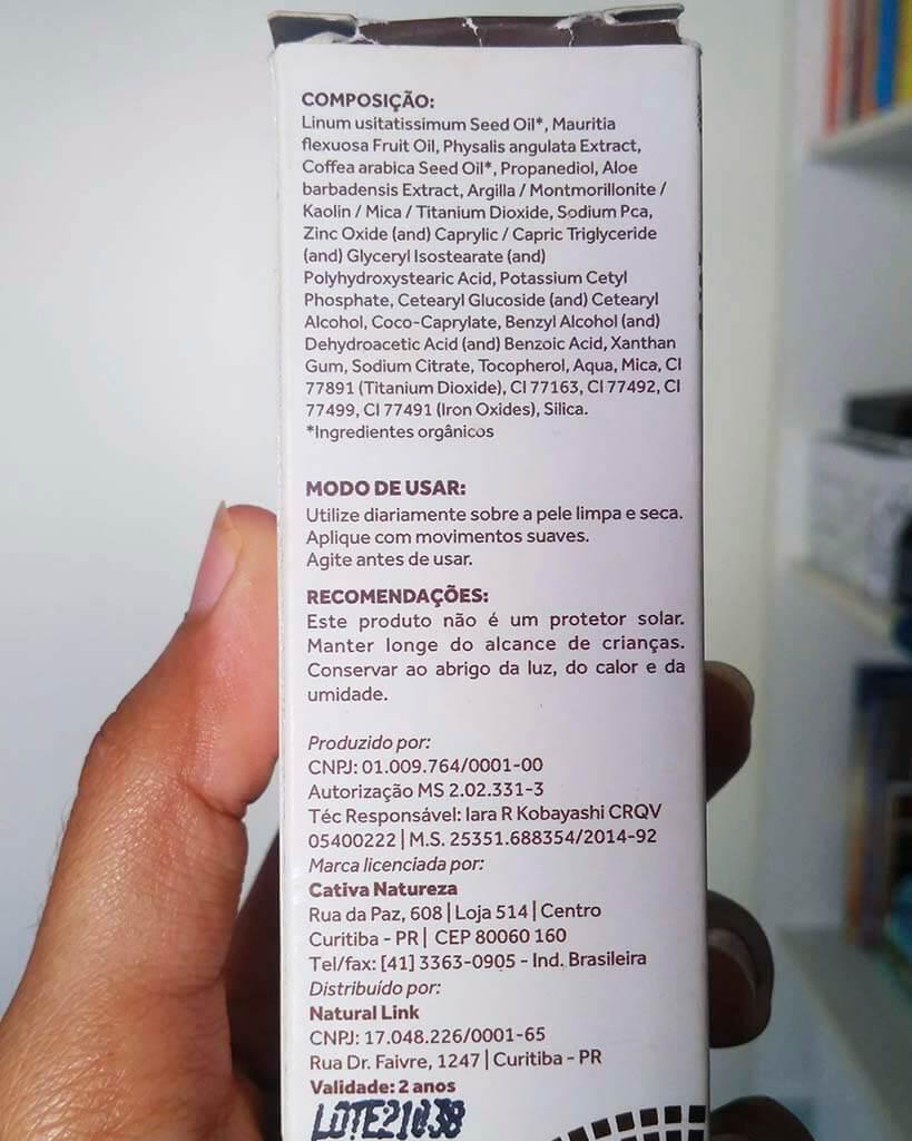 BB-Cream-Cativa-Natureza- Ingredientes
