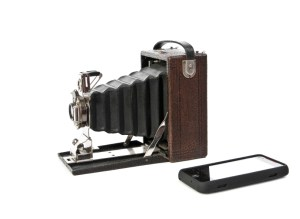 Antique camera and camera cell phone