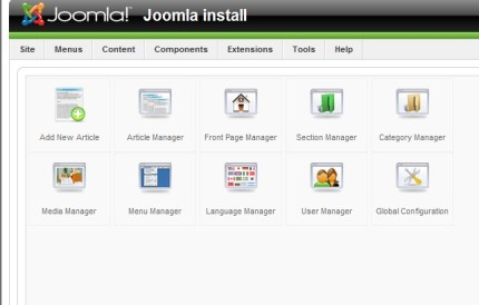 Backend Joomla