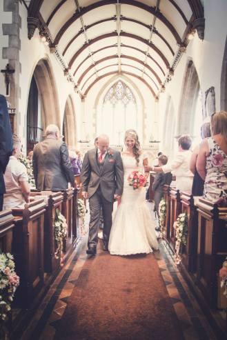 Wedding, walking down the isle, daniel fletcher photography