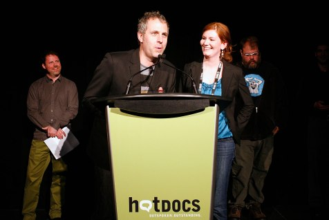 """Grant Baldwin and Jen Rustemeyer took home the Emerging Canadian Filmmaker Award for """"Just Eat It: A Food Waste Story"""""""