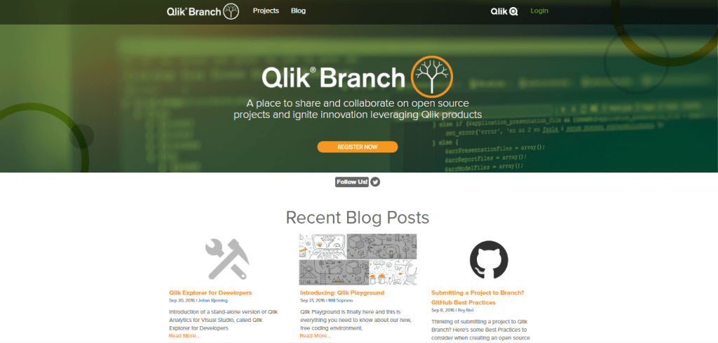 extensiones en qlik sense branch select