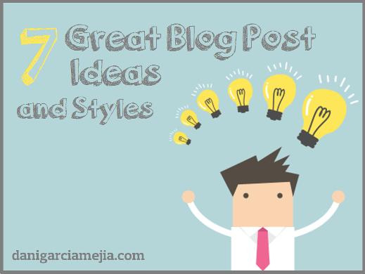 blog post ideas and styles miniatura