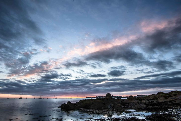 Sunrise at Skerries' Hoar Rock, in County Fingal