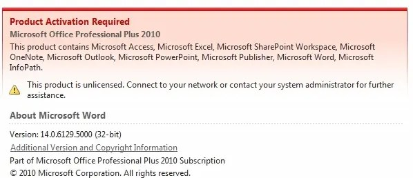 Microsoft office professional plus unlicensed daniel glenn - Office professional plus 2010 activation ...