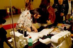 Portrait Fashion Factory, performance live factory, Rome, 2015
