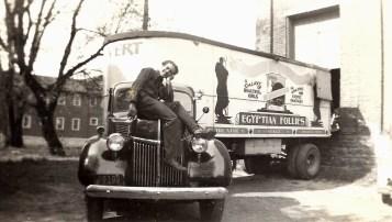Man on Egyptian Follies truck