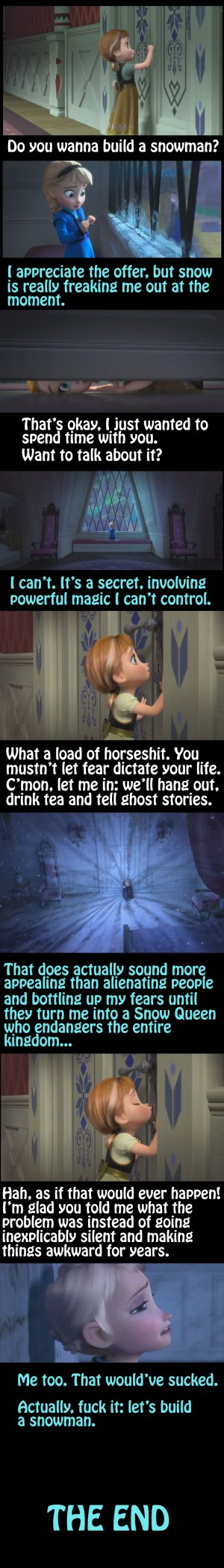 How basic communication could have made Frozen a much shorter film