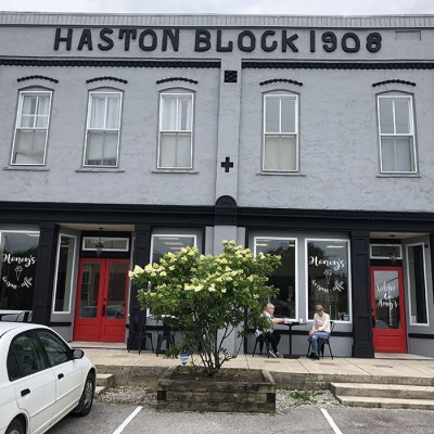11 - Haston Block building on the east side of the old public square in Spencer, TN.