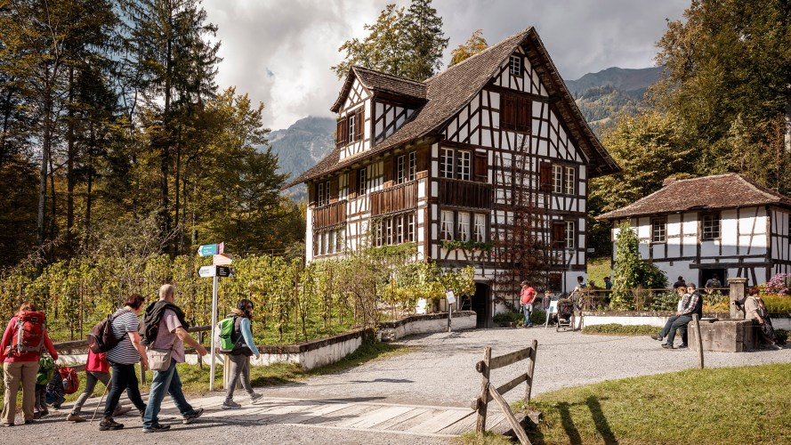 Ballenberg is an open-air museum in Switzerland that displays traditional buildings and architecture from all over the country.