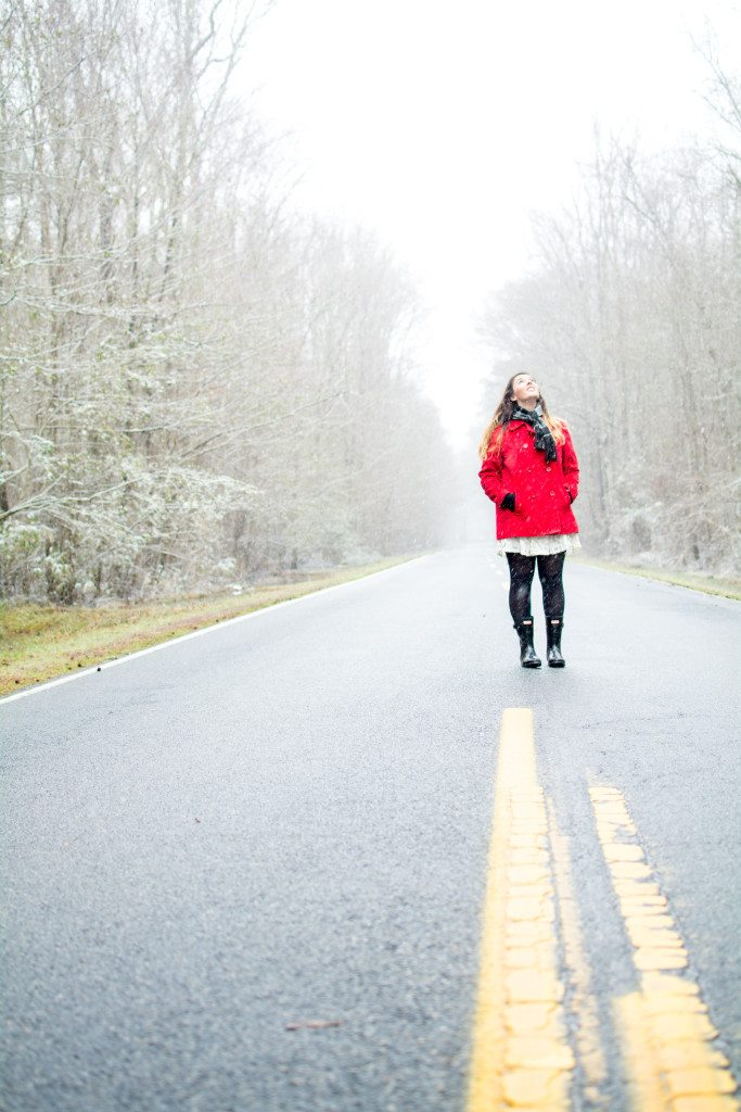 Maggie-Winter-Photoshoot-Coffee-Snow-Road-Inside-Chesapeake-Southern-Virginia-Triple-R-Ranch-3R-Southern-Girl-19