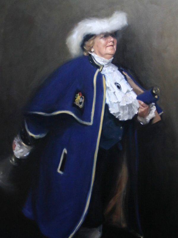 Portrait painting of Montgomery Town Crier