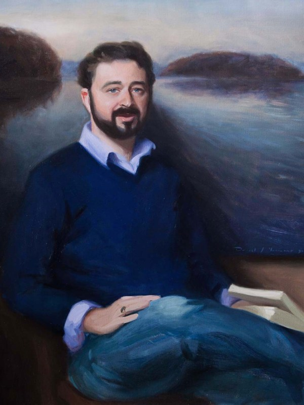 Portrait Commission painted of J. Herbert in Oils on canvas