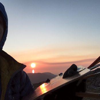 Sunset on Cadair Idris