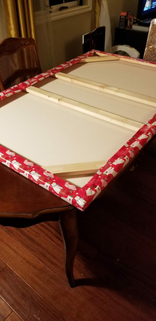 gift wrapping large canvas