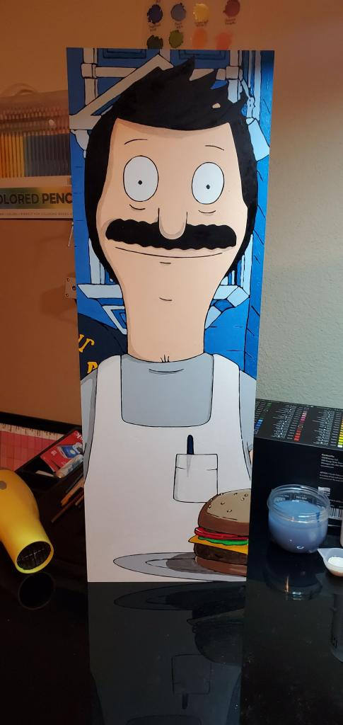 finished bob belcher painting