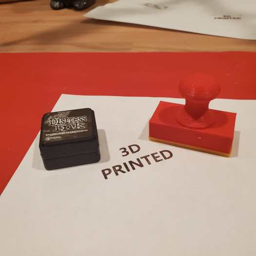 first attempt at using my new 3d printed stamp