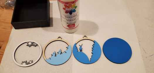 painting the ornament pieces