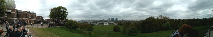 A panorama taken from Greenwich Observatory with my Nexus 4