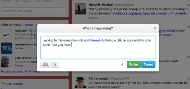 The new tweet modal on twitter.com