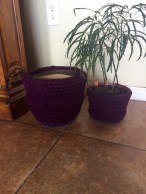 Crochet Recycled Planter