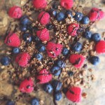 Chocolate Drizzled Berries + Granola