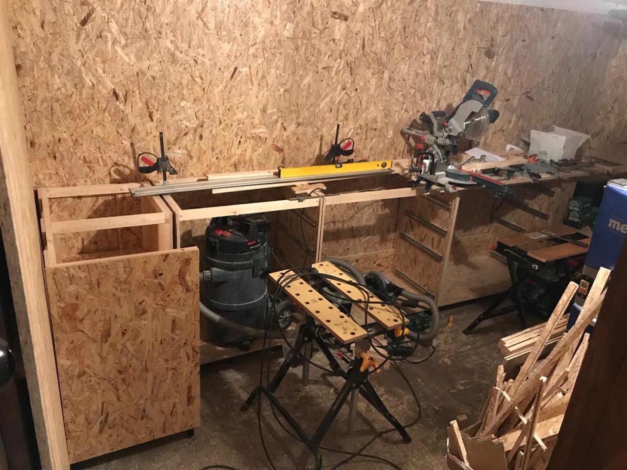OSB-Unterschrank Kellerwerkstatt