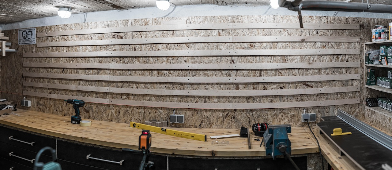 French Cleat Wand in der Hobbywerkstatt selber bauen
