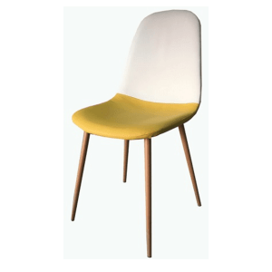 Silla blanco y amarillo frontal Ref 519 Daniellas home