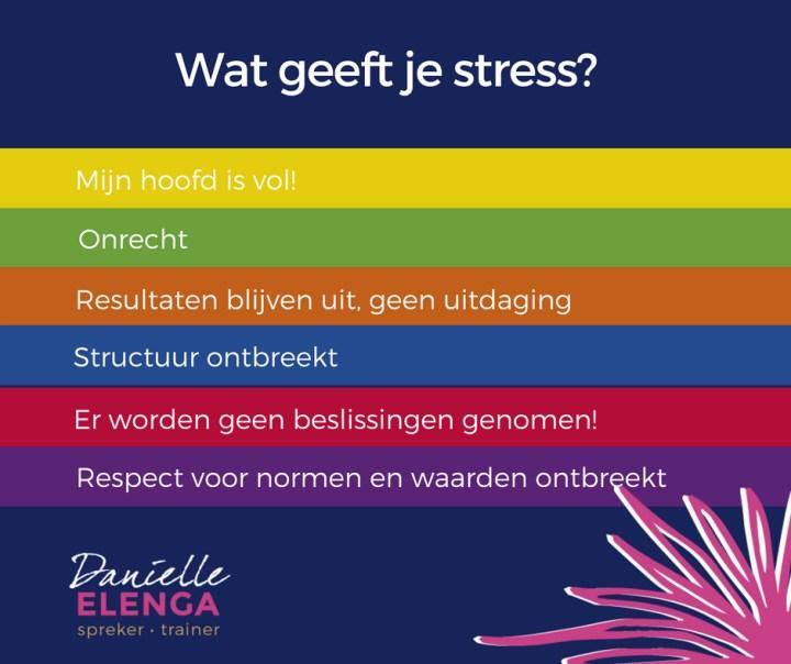 wat geeft je stress