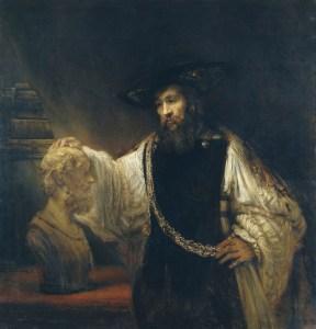 rembrandt, aristotle, bust