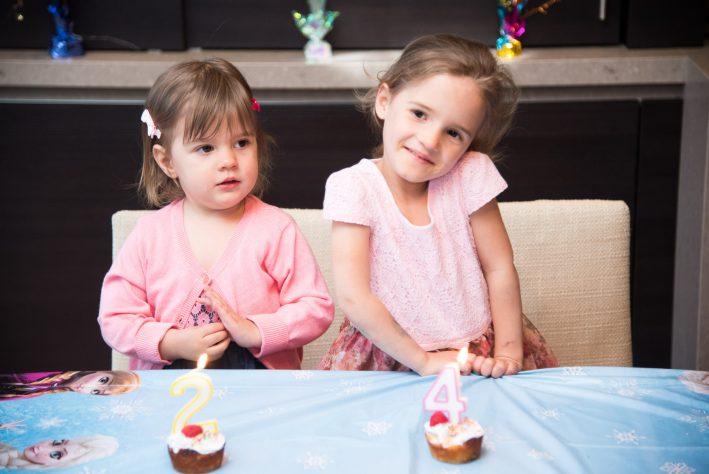 Healthier birthday cupcake