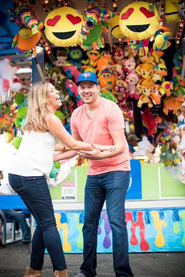 CNE Engagement,toronto photographer, danielle blancher, fun engagement, unique engagement shoot.