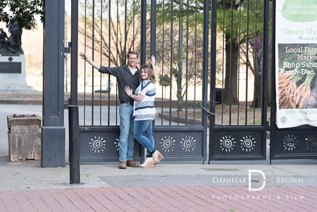 engagement photos piedmont park atlanta wedding photographer