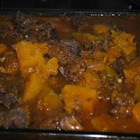 Carne de panela com abóbora