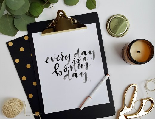 welcome gift ediabd every day is a bonus day free printable artwork