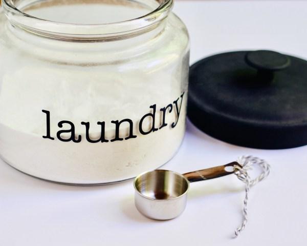 homemade laundry soap glass jar Danielle Comer Blog