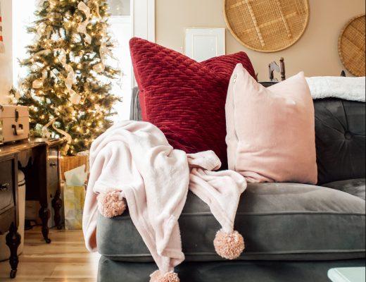 cozy winter decor target hearth and hand velvet square pillows - Danielle Comer Blog.jpg