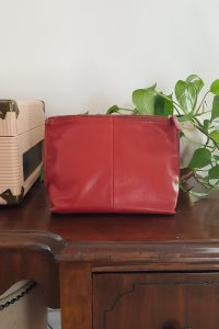 vintage red leather bag - South by PNW Vintage