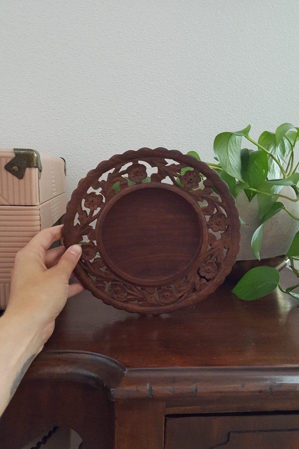 carved wooden plate - South by PNW Vintage