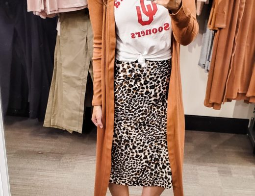 Target Fall 2019 Try-On Danielle Comer Blog long camel brown cardigan