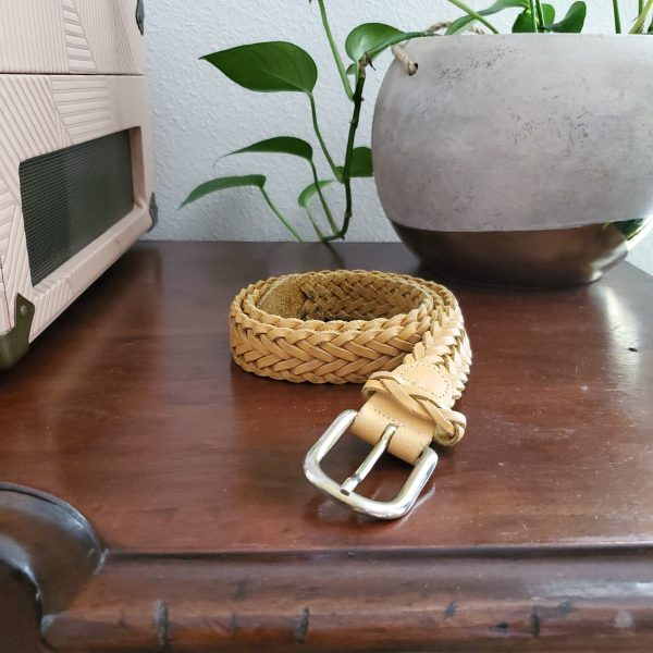 vintage woven leather belt - South by PNW Vintage