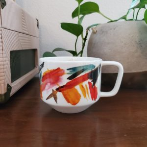 032 - abstract coffee mug - South by PNW Vintage